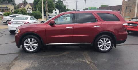2013 Dodge Durango for sale at N & J Auto Sales in Warsaw IN