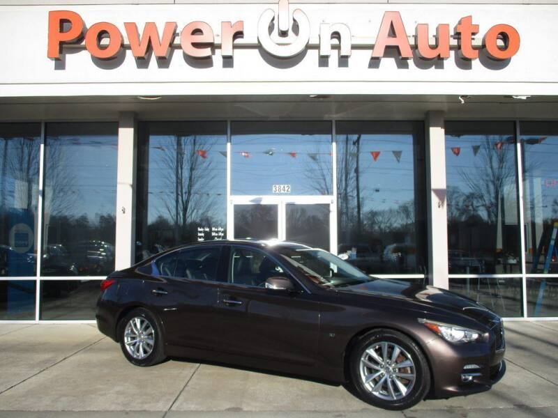 2014 Infiniti Q50 for sale at Power On Auto LLC in Monroe NC