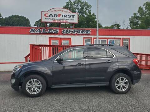 2016 Chevrolet Equinox for sale at CARFIRST ABERDEEN in Aberdeen MD