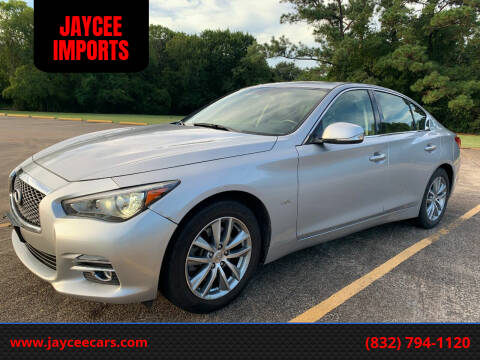 2016 Infiniti Q50 for sale at JAYCEE IMPORTS in Houston TX