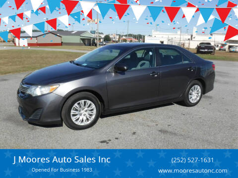 2014 Toyota Camry for sale at J Moores Auto Sales Inc in Kinston NC