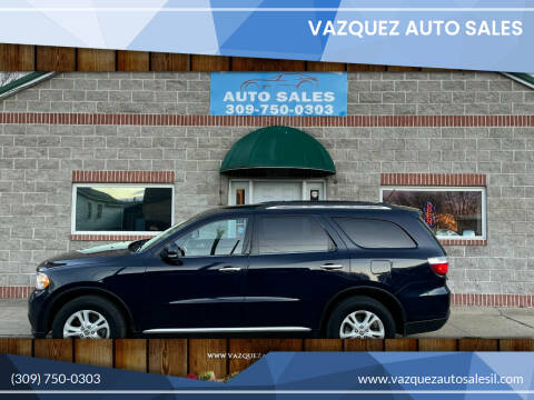 2013 Dodge Durango for sale at VAZQUEZ AUTO SALES in Bloomington IL