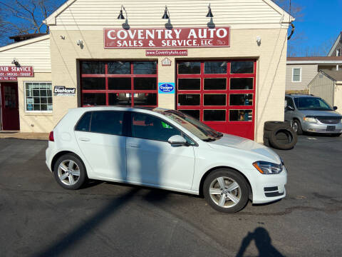 2017 Volkswagen Golf for sale at COVENTRY AUTO SALES in Coventry CT