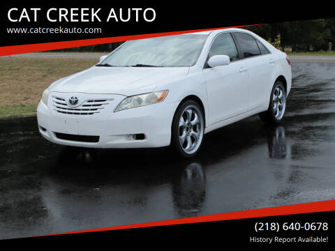 2007 Toyota Camry for sale at CAT CREEK AUTO in Menahga MN