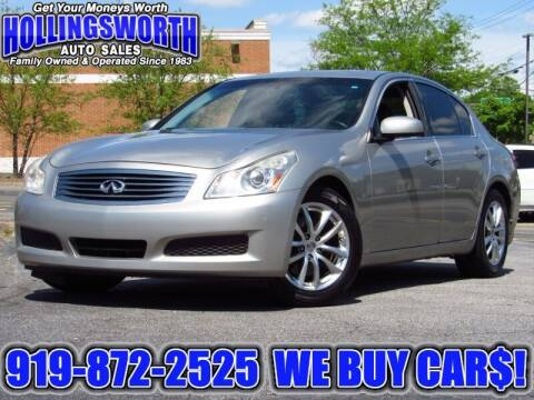 2008 Infiniti G35 for sale at Hollingsworth Auto Sales in Raleigh NC