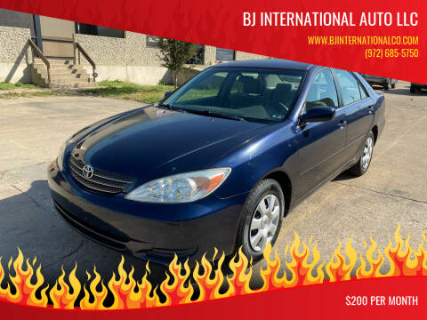 2003 Toyota Camry for sale at BJ International Auto LLC in Dallas TX