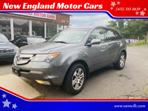 2008 Acura MDX for sale at New England Motor Cars in Springfield MA