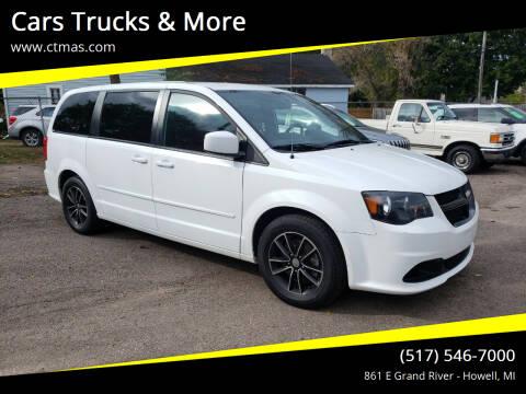 2017 Dodge Grand Caravan for sale at Cars Trucks & More in Howell MI