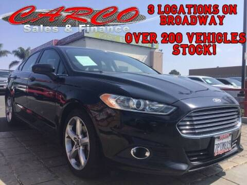 2016 Ford Fusion for sale at CARCO SALES & FINANCE in Chula Vista CA