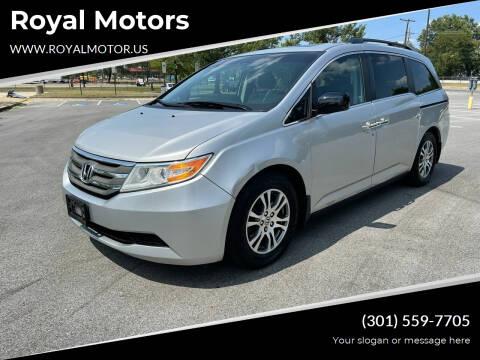 2012 Honda Odyssey for sale at Royal Motors in Hyattsville MD