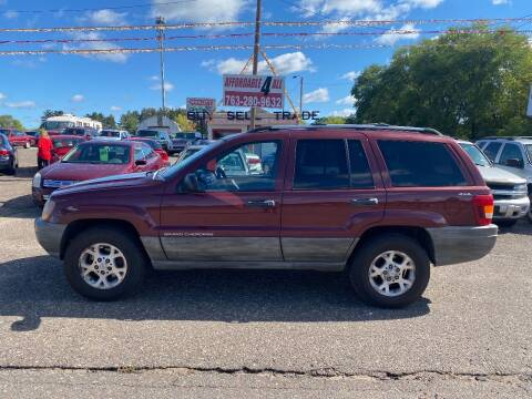 1999 Jeep Grand Cherokee for sale at Affordable 4 All Auto Sales in Elk River MN