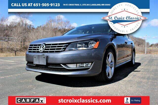 2013 Volkswagen Passat for sale at St. Croix Classics in Lakeland MN