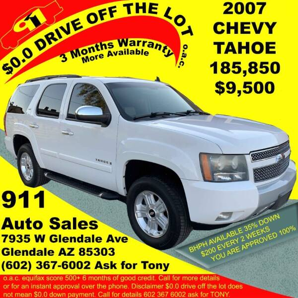2007 Chevrolet Tahoe for sale at 911 AUTO SALES LLC in Glendale AZ