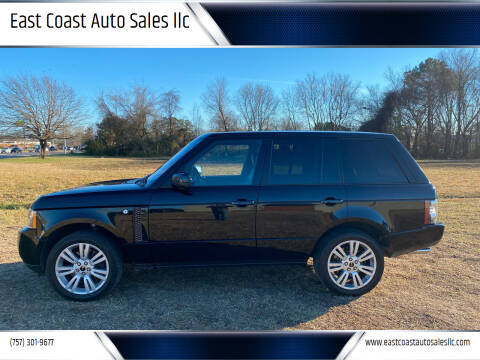 2012 Land Rover Range Rover for sale at East Coast Auto Sales llc in Virginia Beach VA