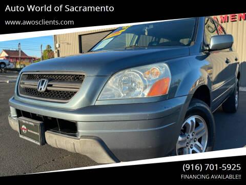 2005 Honda Pilot for sale at Auto World of Sacramento Stockton Blvd in Sacramento CA