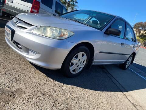 2004 Honda Civic for sale at Beyer Enterprise in San Ysidro CA
