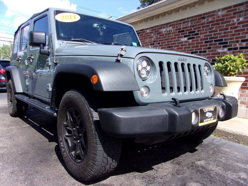 2014 Jeep Wrangler Unlimited for sale at Certified Motorcars LLC in Franklin NH