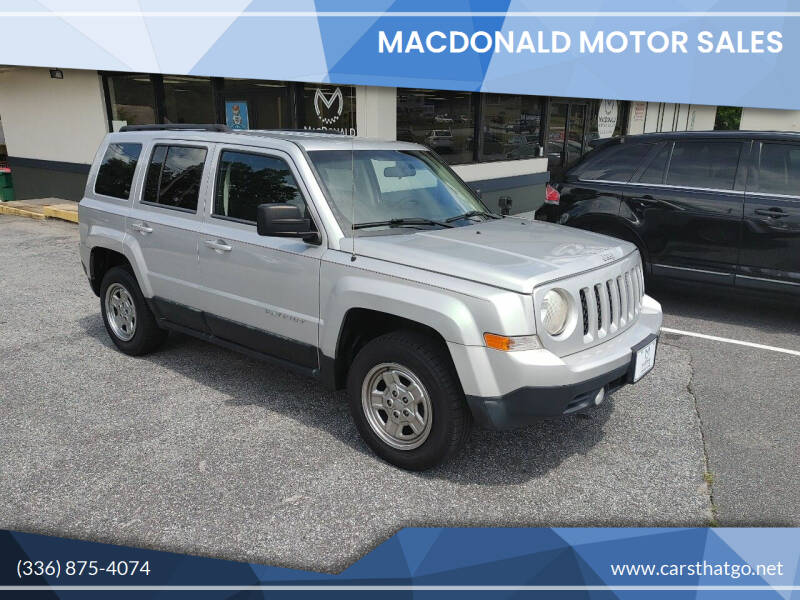 2011 Jeep Patriot for sale at MacDonald Motor Sales in High Point NC