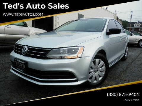 2016 Volkswagen Jetta for sale at Ted's Auto Sales in Louisville OH