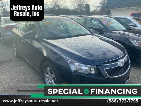 2014 Chevrolet Cruze for sale at Jeffreys Auto Resale, Inc in Clinton Township MI