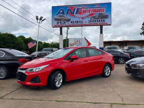 2019 Chevrolet Cruze for sale at ANF AUTO FINANCE in Houston TX