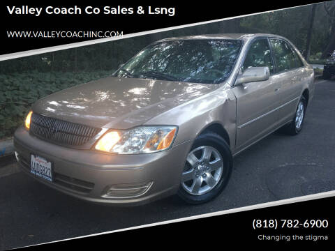 2001 Toyota Avalon for sale at Valley Coach Co Sales & Lsng in Van Nuys CA