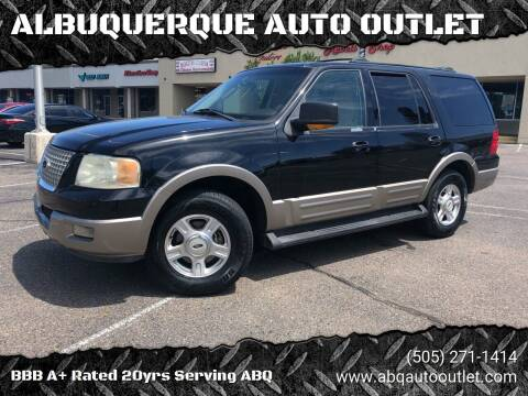 2003 Ford Expedition for sale at ALBUQUERQUE AUTO OUTLET in Albuquerque NM