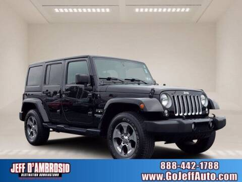 2016 Jeep Wrangler Unlimited for sale at Jeff D'Ambrosio Auto Group in Downingtown PA