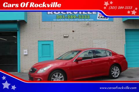 2010 Infiniti G37 Sedan for sale at Cars Of Rockville in Rockville MD