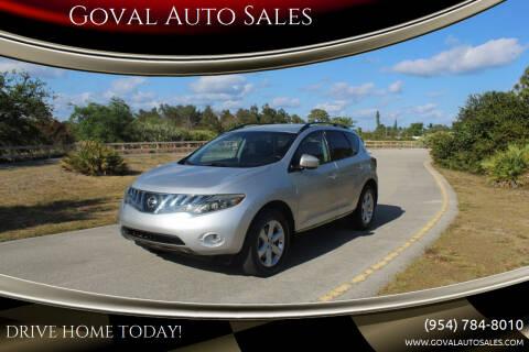 2009 Nissan Murano for sale at Goval Auto Sales in Pompano Beach FL