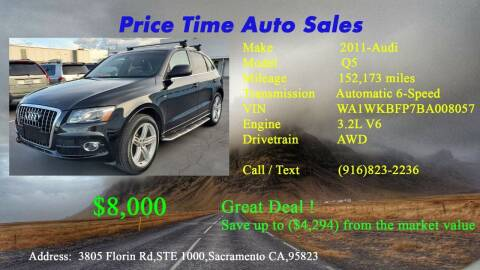 2011 Audi Q5 for sale at PRICE TIME AUTO SALES in Sacramento CA