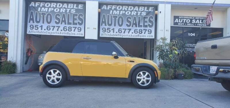 2008 MINI Cooper for sale at Affordable Imports Auto Sales in Murrieta CA