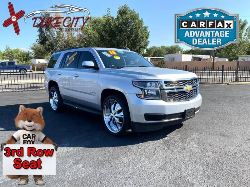 2015 Chevrolet Tahoe for sale at DUKE CITY AUTO SALES in Albuquerque NM