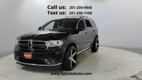 2016 Dodge Durango for sale at NJ State Auto Used Cars in Jersey City NJ