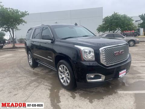 2017 GMC Yukon for sale at Meador Dodge Chrysler Jeep RAM in Fort Worth TX