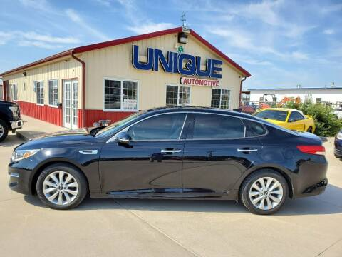 """2016 Kia Optima for sale at UNIQUE AUTOMOTIVE """"BE UNIQUE"""" in Garden City KS"""