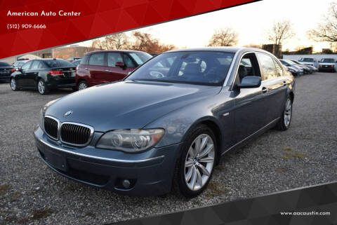 2008 BMW 7 Series for sale at American Auto Center in Austin TX