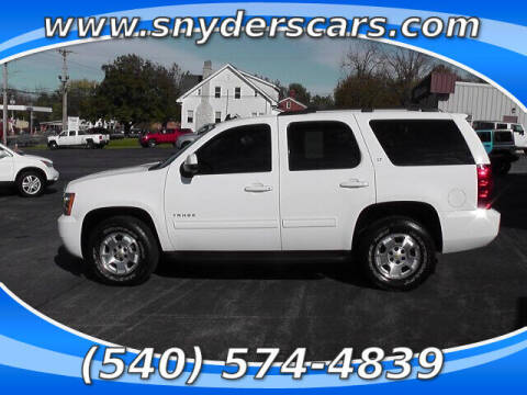 2012 Chevrolet Tahoe for sale at Snyders Auto Sales in Harrisonburg VA