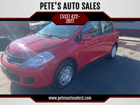 2012 Nissan Versa for sale at PETE'S AUTO SALES - Middletown in Middletown OH
