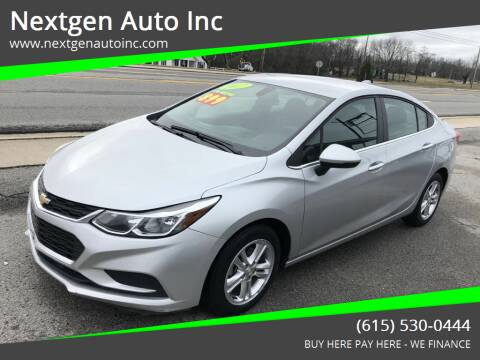 2017 Chevrolet Cruze for sale at Nextgen Auto Inc in Smithville TN