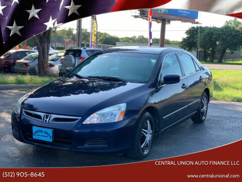 2006 Honda Accord for sale at Central Union Auto Finance LLC in Austin TX