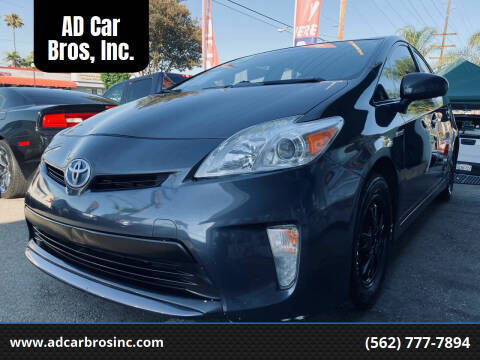 2015 Toyota Prius for sale at AD Car Bros, Inc. in Whittier CA