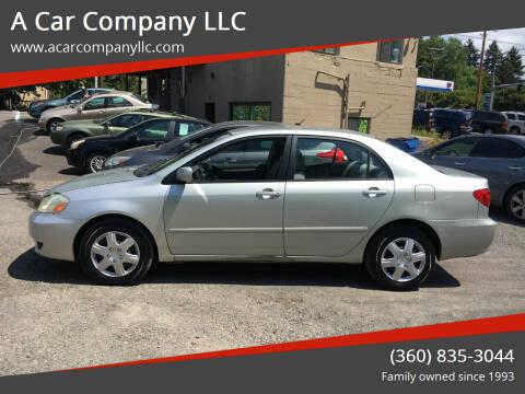 2003 Toyota Corolla for sale at A Car Company LLC in Washougal WA
