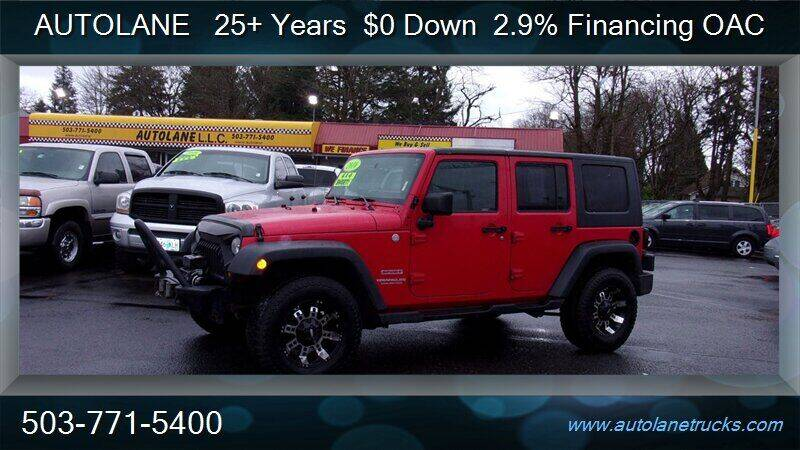 2010 Jeep Wrangler Unlimited for sale at Auto Lane in Portland OR