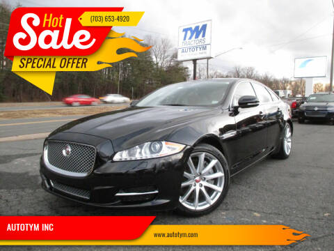 2015 Jaguar XJ for sale at AUTOTYM INC in Fredericksburg VA