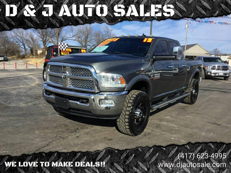 2013 RAM Ram Pickup 2500 for sale at D & J AUTO SALES in Joplin MO