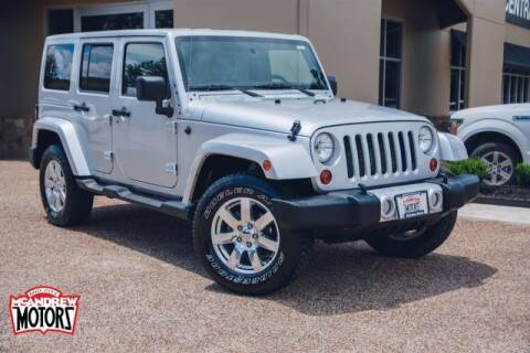 2011 Jeep Wrangler Unlimited for sale at Mcandrew Motors in Arlington TX