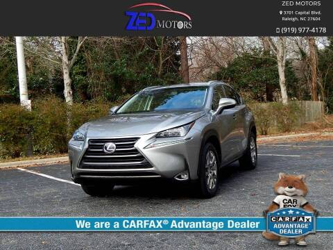 2017 Lexus NX 200t for sale at Zed Motors in Raleigh NC