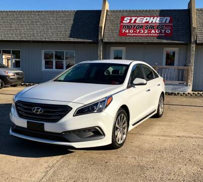 2015 Hyundai Sonata for sale at Stephen Motor Sales LLC in Caldwell OH