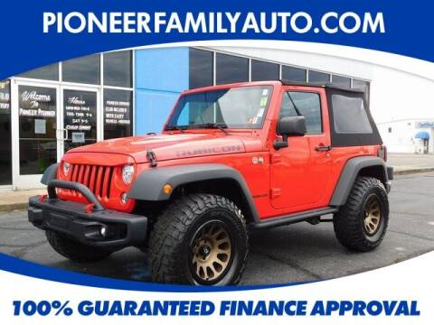 2017 Jeep Wrangler for sale at Pioneer Family auto in Marietta OH